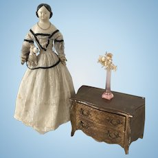 Antique original Papier Mache Doll ca. 1850