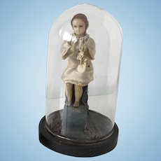 Antique Mechanical Automation Wax Doll 19th century