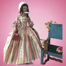 very rare Antique 18th Century Georgian  Wooden Doll