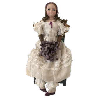 Lovely antique Wax over Doll ca. 1840