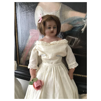 Very Large Antique Pure Wax Doll with various Dresses and Cloths