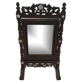 Antique swiveling French Mirror