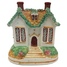 Money Bank Still in the Form of a Cottage Ceramic