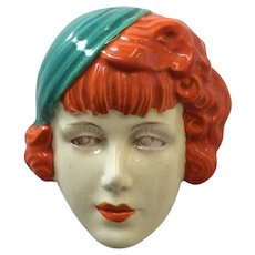 Vintage Small Face Mask Art Deco Style