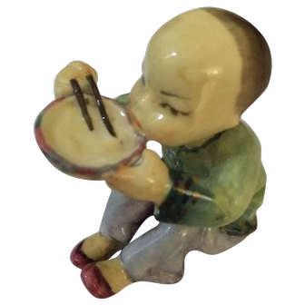 1940's Royal Worcester Chinese Boy Fine Bone China by Freda Doughty.