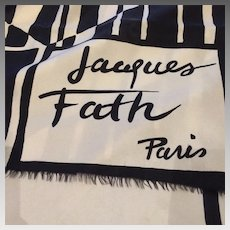 French Silk Scarf by Jacques Fath