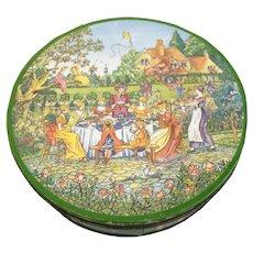 20th Century Huntley & Palmer British Biscuit Tin Garden Party