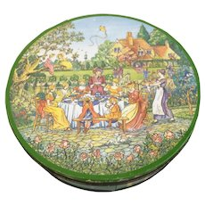 Unusual British Biscuit Tin Huntley & Palmer