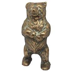 20th Century Brass Bear Still Money Bank