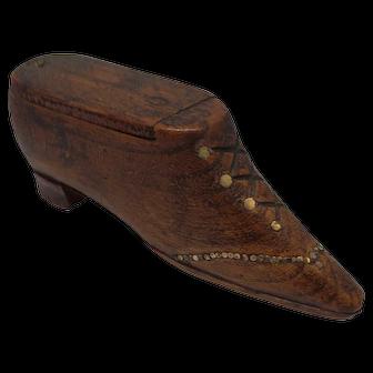 19th Century Snuff Novelty Shoe Box