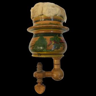 Antique Tunbridge Ware Sewing Box Clamp