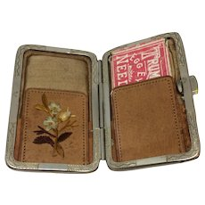 19th Century Leather Needle Case