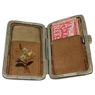 19th Century Leather Needle Case