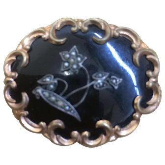Late 19th Century Oval Mourning Brooch