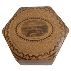Scottish Wooden Box with Balmoral Castle Print