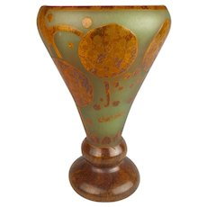 Charder French Cameo Glass Vase