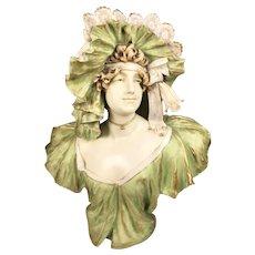 Amphora Art Nouveau Bust of a Lady