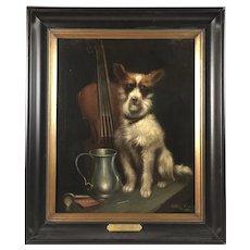"""Charles Dudley """"A Faithful Companion"""" Oil on Canvas Painting"""