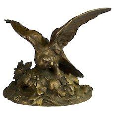French A. Arson Bronze Bird of Prey Figure