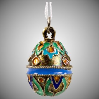Russian Silver and Enamel Pendant