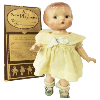 1930 Near Mint Box _Effanbee_Patsyette Composition Doll Original Clothes Shoes Old Home Decor Toy