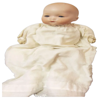 Armand Marseille German Baby Bisque Head Doll Sleep Eye Solid Dome Christening Dress Cloth Body Restore or Re-Make Craft Dollmaker