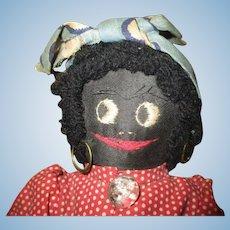 Adorable black cloth doll