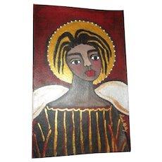 Darling Black Angel painting