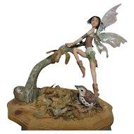 Enchanting Fairy  sculpted OOAK