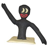 Great black toaster cover/ shelf sitter doll