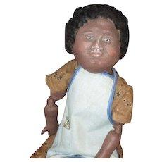 Charming primitive Black doll