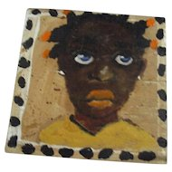 Darling Black child painting