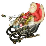 Darling vintage Santa in his sleigh