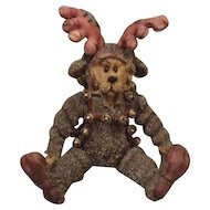 Adorable vintage Teddy Reindeer by Boyds