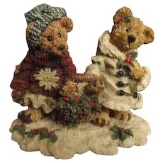 Adorable Christmas Teddy bears display