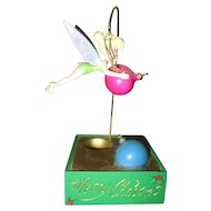 Tinkerbell with  Christmas ornaments