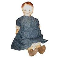 Adorable primitive artist doll OOAK