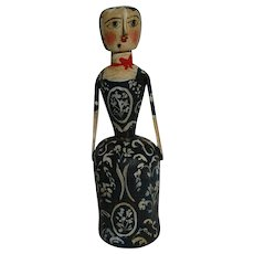 Wood carved doll by Robin Thompson