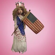 Patriotic Miss Liberty by Jude Kapron OOAK