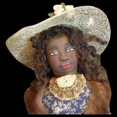 Miss Netti Black lady sculpted by Jude Kapron OOAK