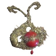 Gorgeous antique blown glass Christmas bulb