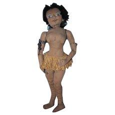Amazing Josephine Baker cloth sculpted black doll OOAK