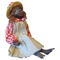 Black primitive doll sculpted by Jude Kapron OOAK