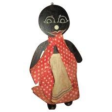 Adorable black wood hotpad holder