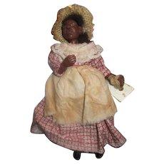 Black primitive doll OOAK