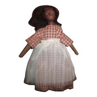 Black primitive doll OOAK