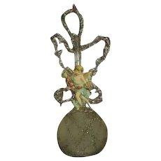 Antique blown  glass tinsel ornament