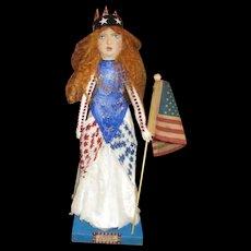 Patriotic Miss Independence by Jude Kapron OOAK