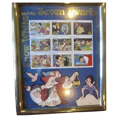 Rare Snow White picture with stamps