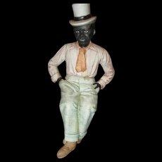 Beautiful dapper bisque Black man in top hat